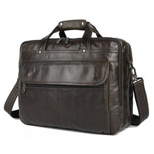 7146A-1 J.M.D 100% Genuine Leather Men's Briefcases For Trip Black Handbags цена