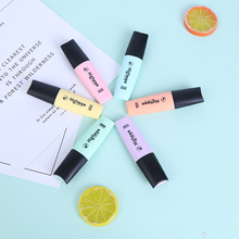 6 Colors Mini Colorful Highlighters Pastel Markers Single Text Focus Graffiti Marker Pens For School Office