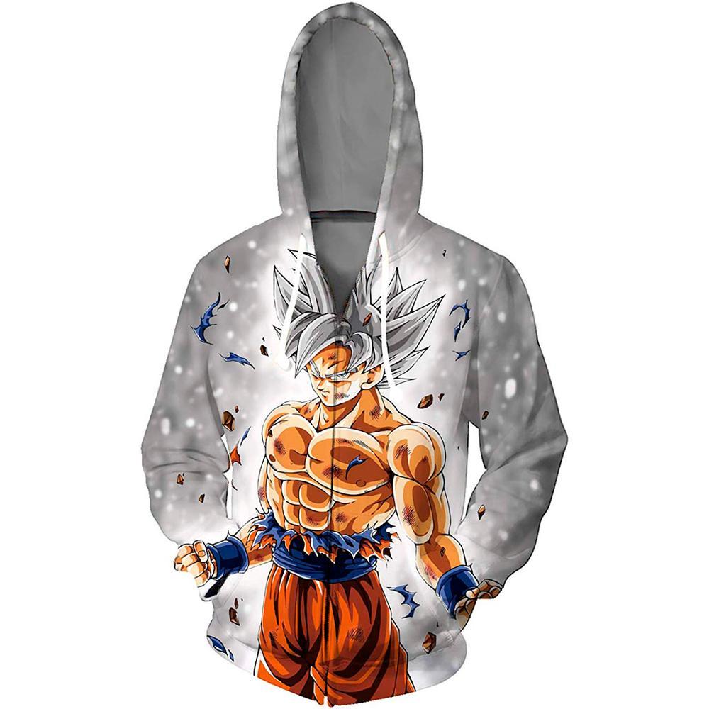 New Japanese Anime Dragon Ball Goku Hoodies Men Women Autumn Casual Sweatshirt Thin Hoodie Coat Zipper Hooded Jacket Outfit