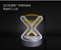 Hyperbolic rotating display creative gifts home permanent motion instrument machine Newton car solar display home decoration