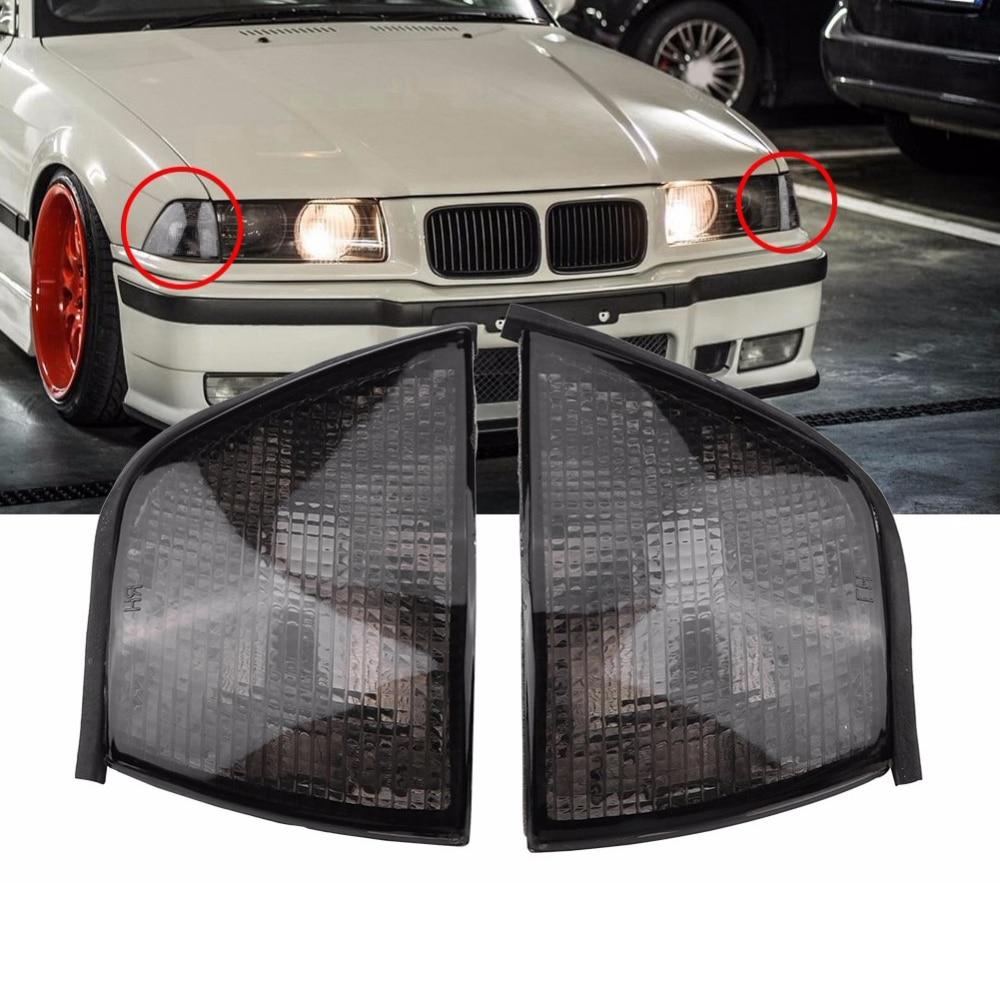 Car Turn Signal Light Left/Right Front Corner Lamps For BMW 3 Series E36 318i 320i 323i 4DR Sedan Wagon 1992-1998
