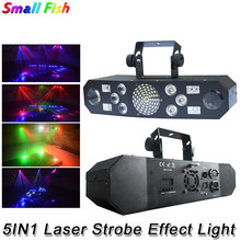 2Pcs/Lot 5IN1 Laser Flash Strobe Light LED Stage Effect Lighting 100-240V Professional Dj Disco Club Bar Party Shows Equipments(China)