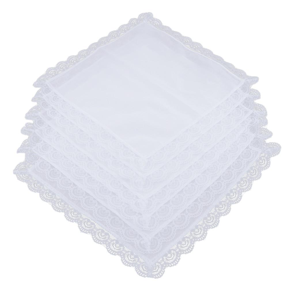 100% хлопок белый носовой платок для мужчин женщин 26x27 см