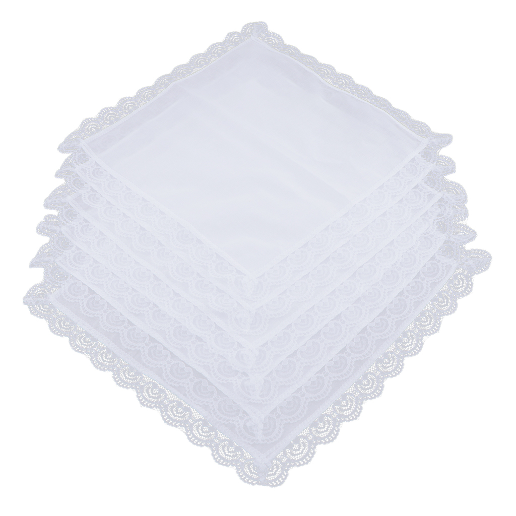 100% Cotton White Handkerchief Hanky Pocket Square For Men Women 26x27cm