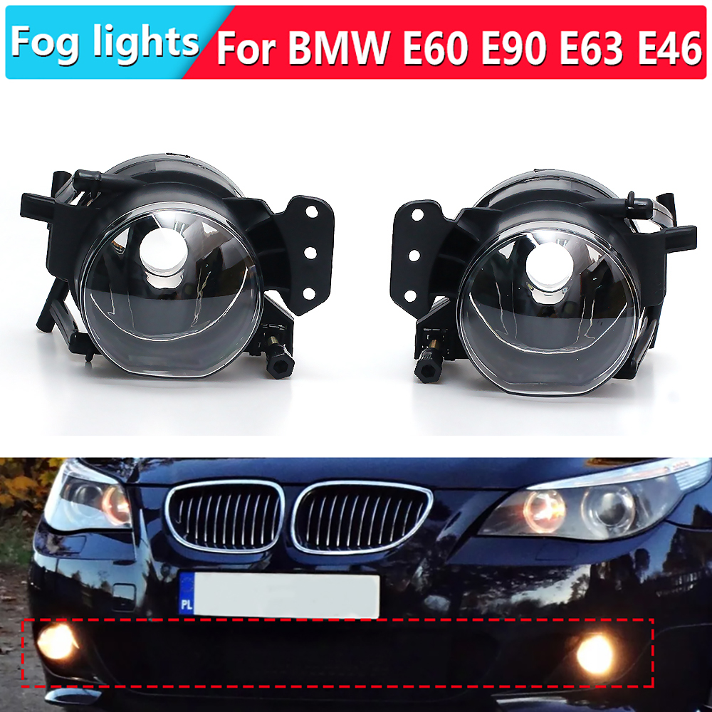 2 PCS Car Fog <font><b>lights</b></font> halogen foglights headlight headlights fog <font><b>light</b></font> LED fog lamps for <font><b>BMW</b></font> E60 <font><b>E90</b></font> E63 E46 323i 325i 525i image