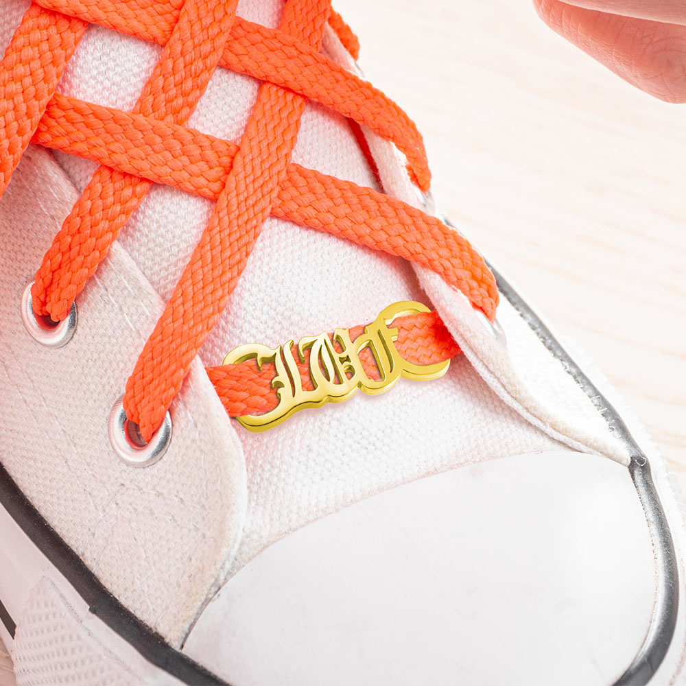 AILIN Gold Color Stainless Steel Shoe Clips Custom Name Shoes Tags Nameplate Shoelaces Buckle Customized Personnalise Jewelry