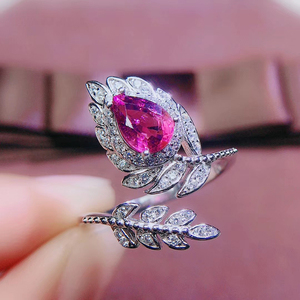 Image 5 - CoLife Jewlery 925 Silver Pink Topaz Ring for Party 4*6mm Natural Topaz Silver Ring Fashion Silver Gemstone Ring