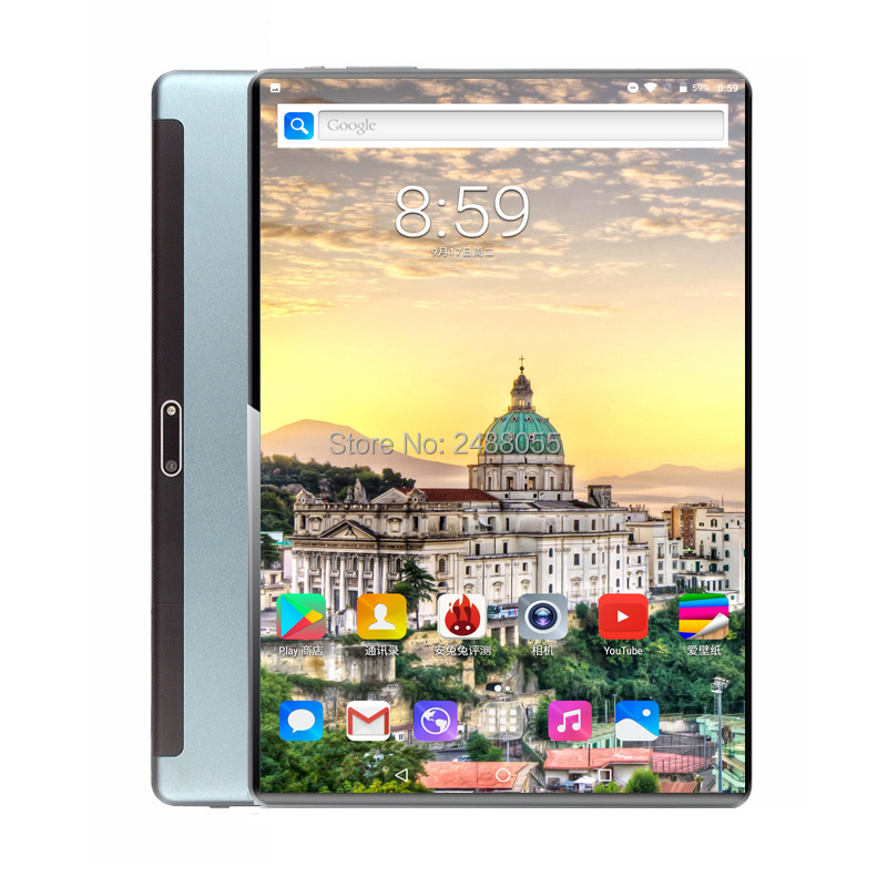 New Google Android 9.0 10 Inch Tablet 4G FDD LTE Octa Core 6GB RAM 128GB ROM 1280x800 IPS Wifi Kids GPS Tablets 10 10.1 Gift