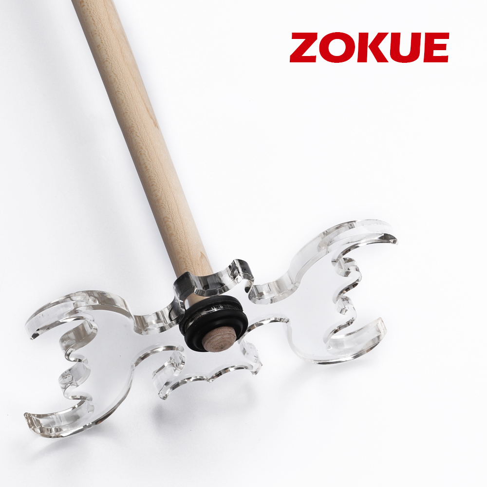 ZOKUE Pool Cue Bridge Head Acrylic Transparent Durable Anti-slip Bats Cue Holder Convenient Professional Billiard Accessories