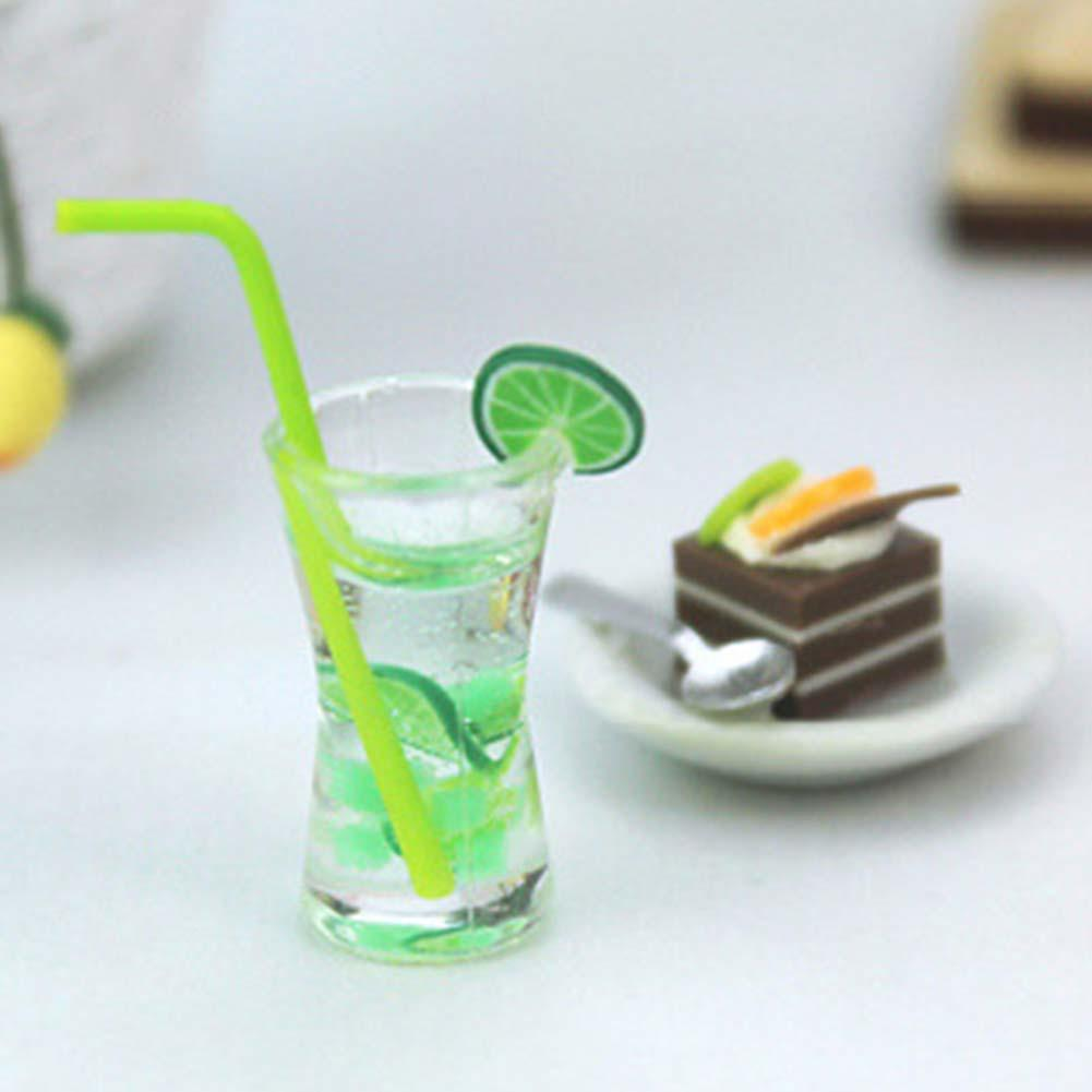 1Pc Simulation Food Lemon Sakura Soda Drink Model Toys Miniature Doll House Accessory Fruit Drink Play For 1/12 1/16 Dollhouse