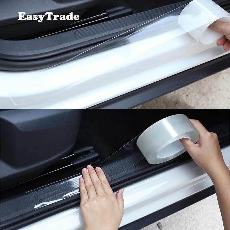 Untuk Skoda Kodiaq 2017 2018 2019 2020 Aksesoris Mobil Styling Karet Pintu Sill Mobil Pelindung Pelindung Barang Stiker Transparan