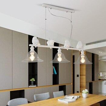 LED European Retro Chandelier Living Room Lamp Dining Room Bedroom Lighting Sparrow Three Modern Led Chandeliers