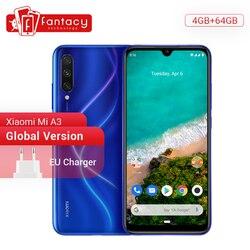 Em estoque Versão global Xiaomi Mi A3 MiA3 4GB 64GB Smartphone 48MP Câmeras triplas Snapdragon 665 32MP Câmera frontal 6.088