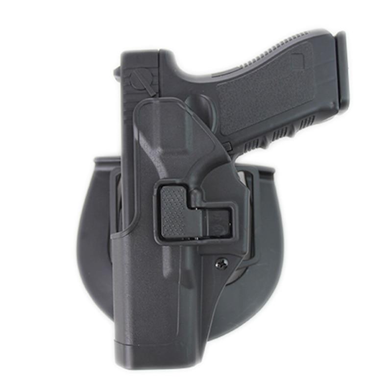 Pistola de Airsoft, funda con cubierta para Glock 17 18 19 22 23 26 31 43, funda para la mano derecha izquierda, cinturón, funda para la cintura, accesorios de caza