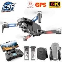 2021 nuevo F9 GPS Drone 6K Cámara Dual de HD profesional de fotografía aérea Motor sin escobillas plegable RC Quadcopter helicóptero Quadcopter RC helicóptero distancia 3000M