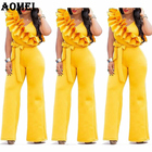 Women Overalls Yello...