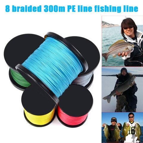 novo 300 m pe tranca linha de pesca 15lb 300lb forte 8 fios duravel acessorios