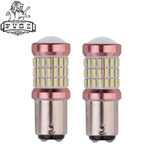 Image 1 - 2 uds., 1157 BA15D, 24V, bombillas de freno de decodificación para coche, 4014 60 SMD, para señal de giro de estacionamiento, luz lateral Super blanca