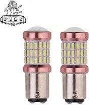 2Pcs 1157 BA15D 24V Car decoding brake light bulbs 4014 60 SMD For Car Parking Turn Signal Light Sidelight Super White