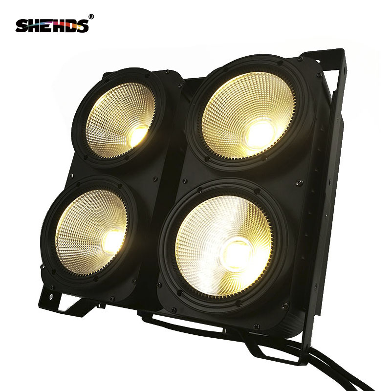 1PCS 200W COB Stgae Light 4x100W Led Blinder 100W RGBWA UV 6in1/5in1/4in1/ Cool Warm White DJ Par Spotlight Bars Theater SHEHDS