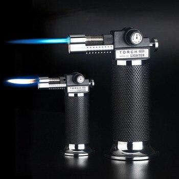 Gas Più Leggero Di Alta Capacità Torcia Turbina Più Leggero Pistola A Spruzzo Butano Due Fiamma Blu del Sigaro della...