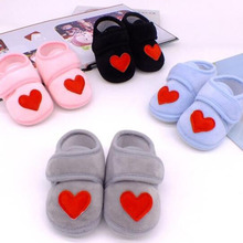 Baby Shoes Red Heart Newborn Pink Girls Infant Shoe
