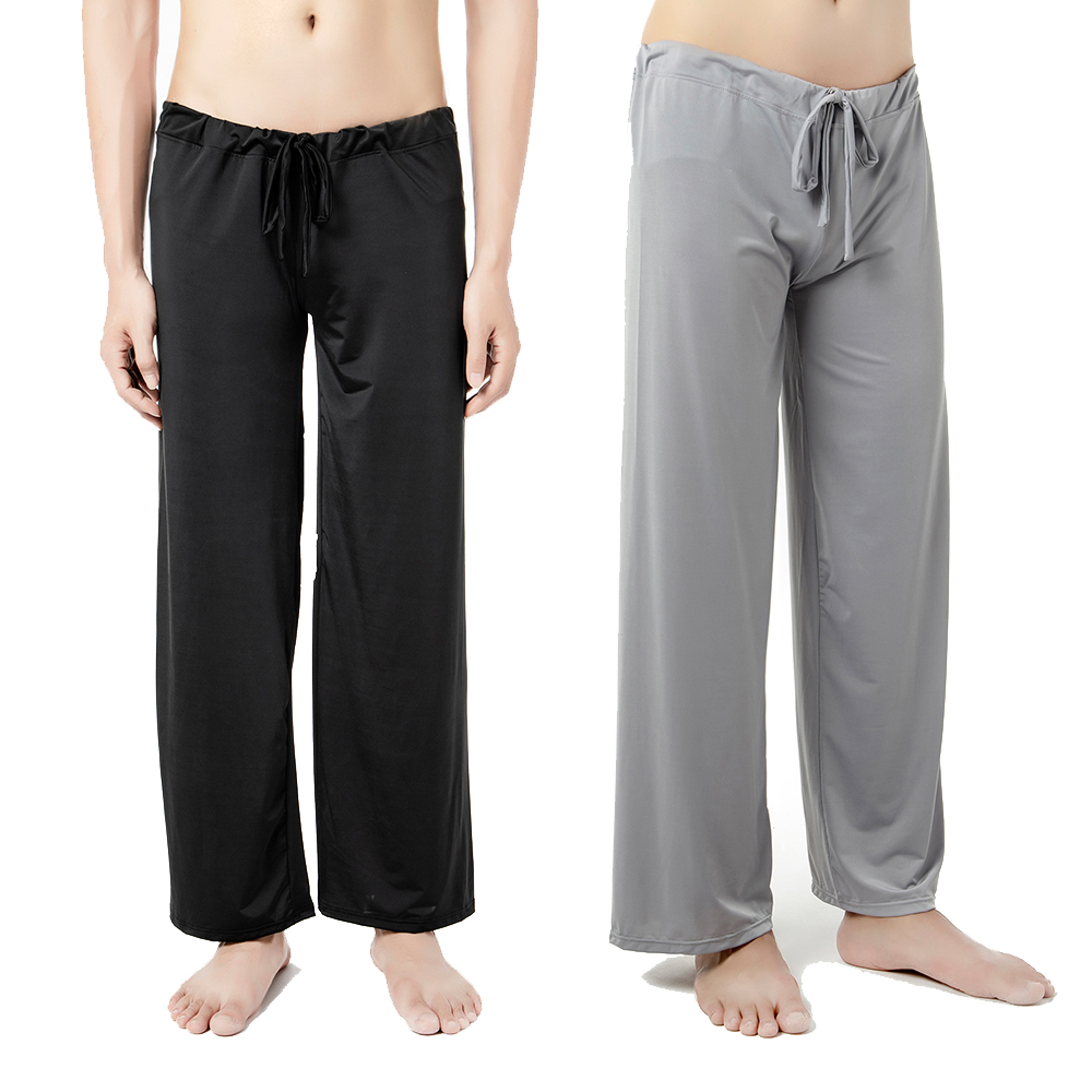 Men's Lounge Pants Soft Thin Sleep Bottoms Environmental Dyeing Loose Casual Pajamas Suit For The Four Seasons
