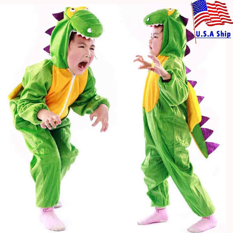 Umorden erkek kız sevimli karikatür hayvan dinozor kostüm Cosplay giyim çocuklar için çocuk günü kostümleri