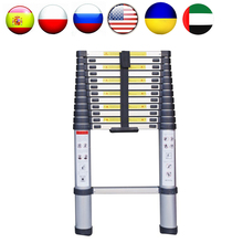SC03 3.8M Multi purpose Telecopic Ladders Aluminum Extending Ladders Straight Retractable Industry Ladders Ladder with 13 Steps