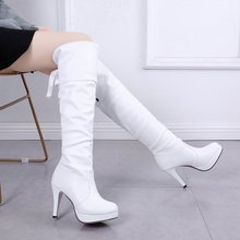 2019 New Shoes Women Boots Black Over the Knee Boots Sexy Female Autumn Winter lady Thigh High Boots botas mujer цены онлайн