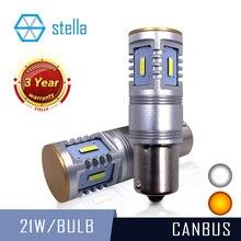 סטלה 2 pcs P21W LED canbus 1156 ba15s LED אוטומטי הפיכת אותות/להפסיק אות/חניה/DRL/בשעות היום ריצת אורות למכוניות 12V/24V