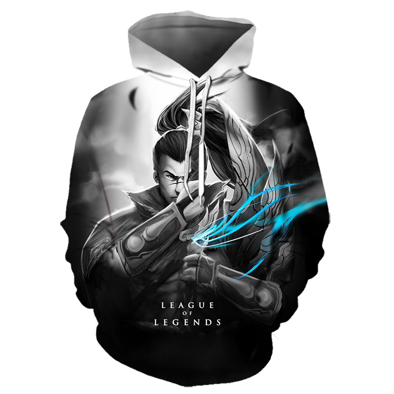 2019 New 3D Print League Of Legends Hoodie Boy Child Cool Hoodie Esports Game Customizable Team Clothing Pattern LoL Gym 6XL