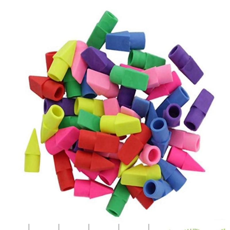 Eraser Caps, Pencil Top Erasers, Pencil Cap Erasers, Eraser Tops, Color Pencil Eraser Toppers, School Erasers For Kids, Use In H
