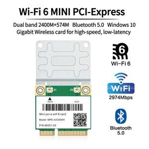3000 Мбит/с Wifi 6 Mini PCI-E беспроводной адаптер для карты Dual Band 2,4 ГГц/5 ГГц Bluetooth 5,0 Wlan для ноутбука Wifi карта 802.11ax/ac MU-MIMO