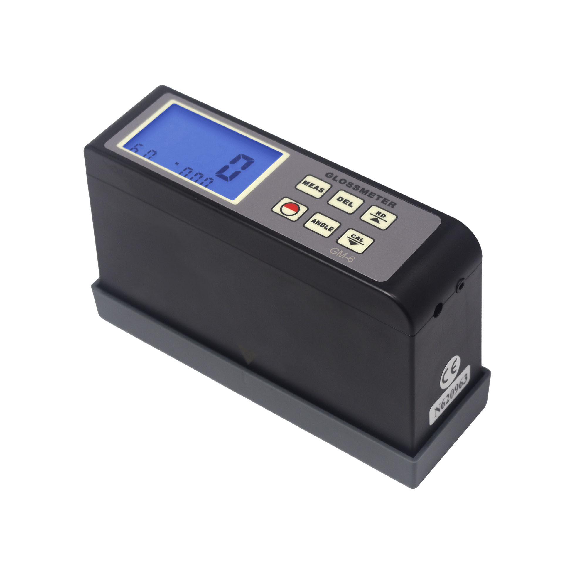 Landtek GM-6 Digital Glossmeter Surface Gloss Meter Tester 60 Degree With Blue Backlight Range 0.1-200Gu