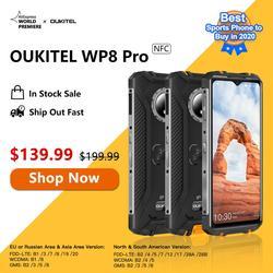 Смартфон OUKITEL WP8 Pro, NFC, Android 10, IP68, 6,49 дюйма, 4 + 64 ГБ, 5000 мА · ч, тройная камера 16 МП