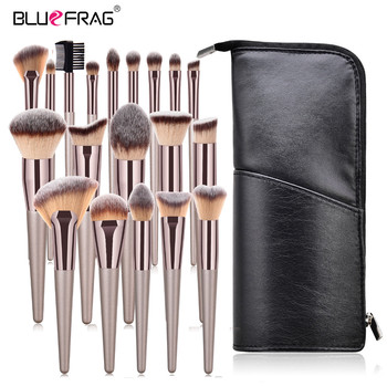 BLUEFRAG Makeup Brushes Tool Set Of Make Up Brushes 6-19Pcs Powder Eye Shadow Foundation Blush Blending Beauty Brush Maquiagem boucabe makeup brushes tool set 5 23pcs cosmetic powder eye shadow foundation blush blending beauty make up brush maquiagem