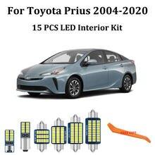 Kit d'éclairage intérieur de voiture Canbus led, 15 pièces, blanc, pour Toyota Prius 20 30 40 50 NHW20 ZVW30 ZVW40 ZVW50 ZVW51 ZVW55, 2004 – 2020