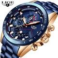 LUIK 2019 Nieuwe Mode Heren Horloges Rvs Top Merk Luxe Sport Chronograph Quartz Horloge Mannen Relogio Masculino