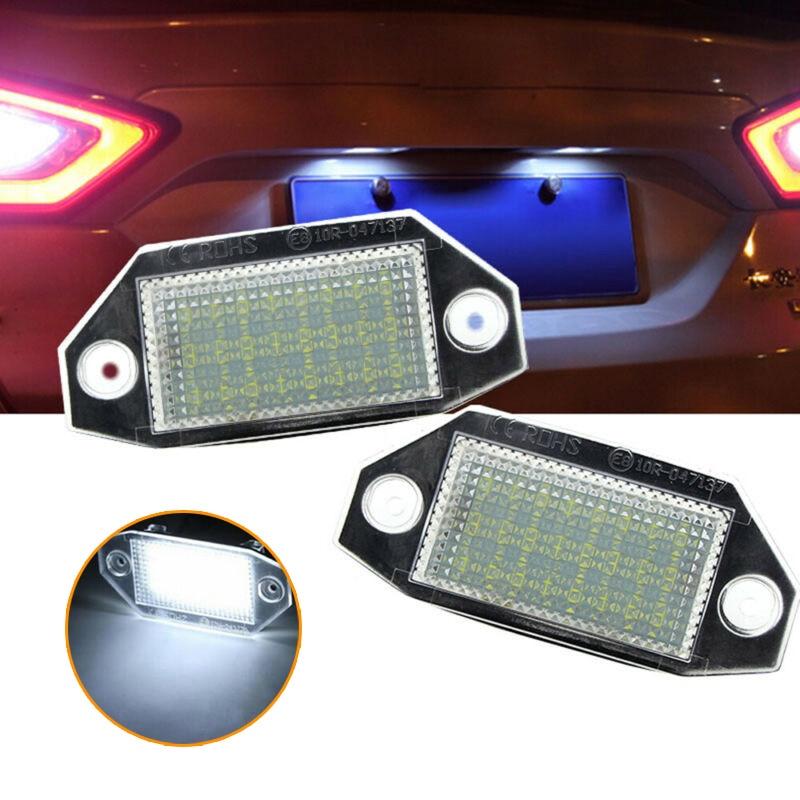 Phare de queue de voiture pour Ford Mondeo MK3 | 2 pièces, blanc, numéro de voiture, plaque dimmatriculation, feu de queue de voiture, pour Ford Mondeo MK3 2000-07 X2