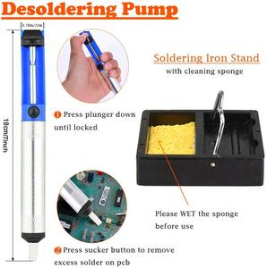 Image 4 - Full Set 60W 110V/220V Electric Soldering Iron Kit with Adjustable Temperature Welding Iron Electronic Repair Tool