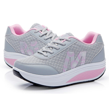 Women's Sneakers Platform Toning Wedge Light Weight Zapatillas Sports Shoes for Woman Breathable Slimming Fitness Swing Shoes 4 5 cm height toning shoes for women fitness walking slimming workout sneakers wedge platform air swing shoes for female