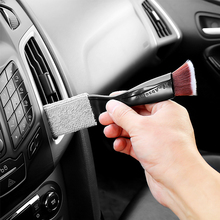 2 In 1 Car Air-Condition Vent Outlet Cleaner Car Outlet Dirt Duster Brush for Air-conditioning Port CD Port Computer Keyboard