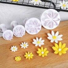 Moules de cuisson en silicone, 4 pièces, moulage de Fondant de sucre, moulage de Mastic, coupeur de fleur de prunier, outils artisanaux