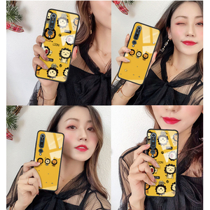 Image 5 - For Xiaomi Mi10 Mi 10 Pro 5G Glass case 6D cute Patterned Luxury Tempered Glasss Silicone Frame Hard Cover For xiaomi mi10 mi 10