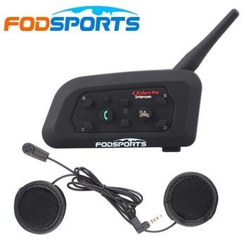 Fodsports-intercomunicador V6 Pro para casco de motocicleta, Bluetooth, con auricular, para moto,...