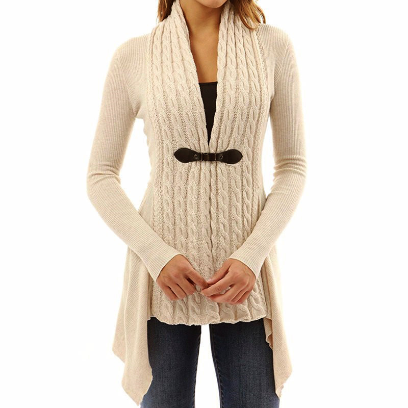 Women Sweatshirt Solid Color Long Sleeve Autumn Winter Top Scarf Collar Design Button Decor Swallowtail Hem Sweatshirt