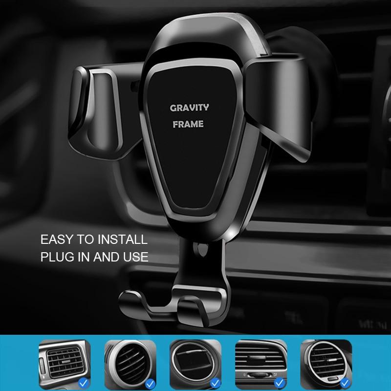 Automotive magnetic mobile phone holder universal installation 360 degree vent
