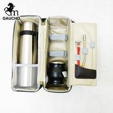 Juego de bolsos de viaje para viaje, incluye calabaza, termo, pajita y cepillo de limpieza, gran oferta, 1 Juego por lote