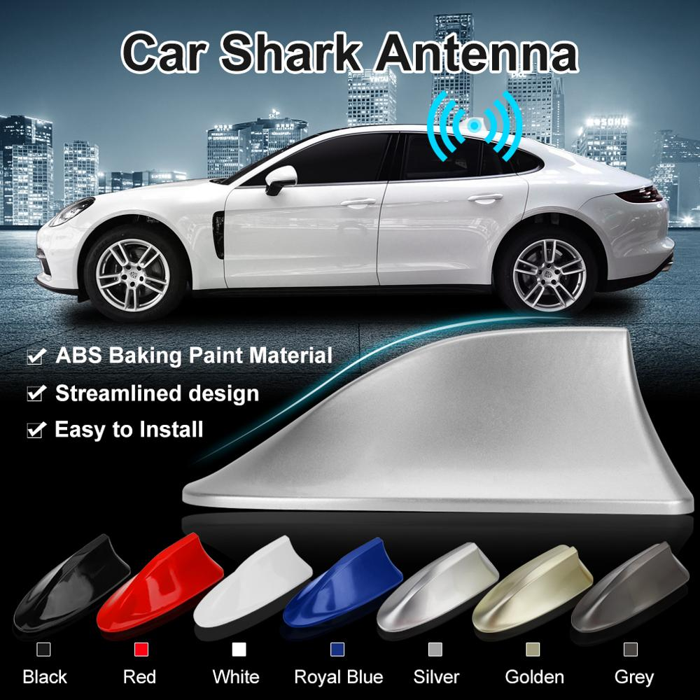 AM Radio Mount Mast Signal Sticker Black Car Roof Shark Fin Antenna Aerial FM